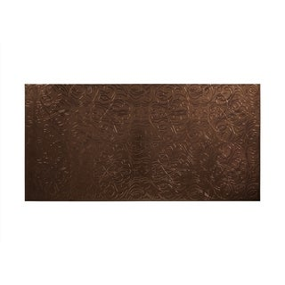 Fasade Damask Oil Rubbed Bronze 4-foot x 8-foot Wall Panel