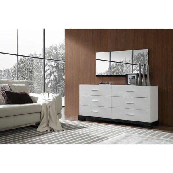 Modrest Galaxy Modern White 6-drawer Dresser