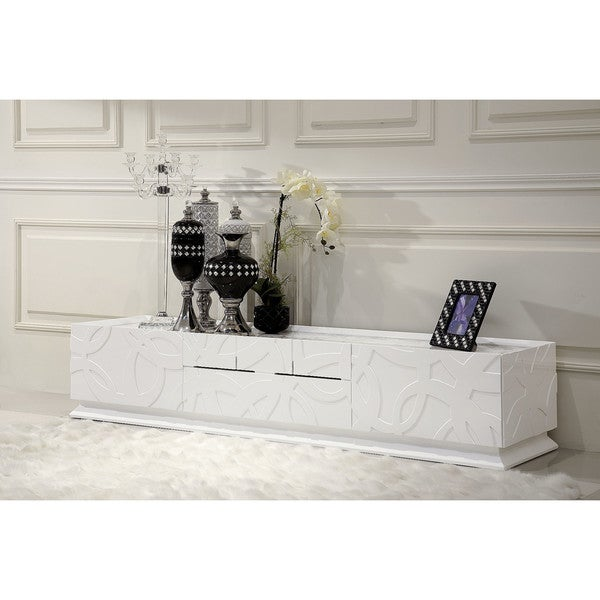 Modrest Ariel Modern White TV Stand