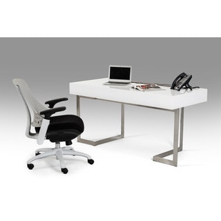 Modrest Sharp Modern White Office Desk