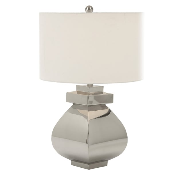 Casa Cortes Leeds Collection 22-inch Stainless Steel Table Lamp