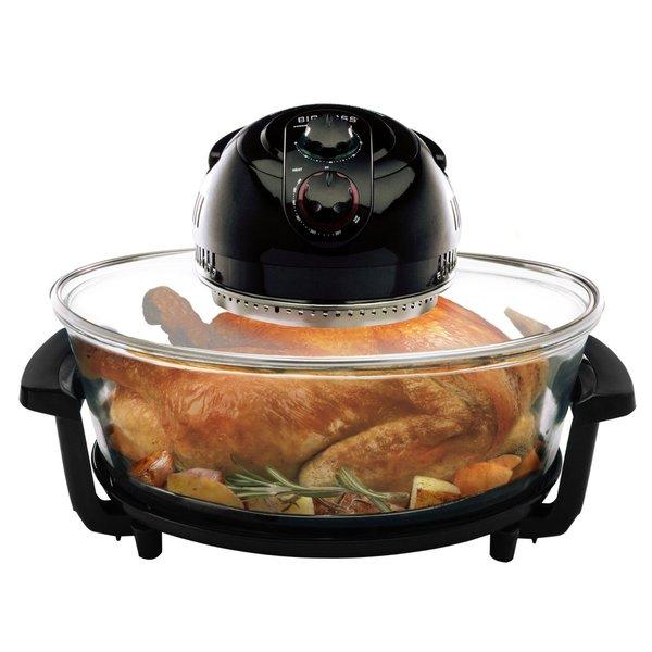 Big Boss 8861 Oval Rapid Wave Turkey Roaster, 17.5-Quart, 1300 Watt Hi-Speed-Low Energy Oven 16207211