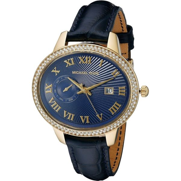 Michael Kors Women's MK2429 'Whitley' Crystal Blue Leather Watch 16207216