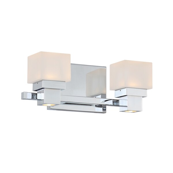 Kube LED 2 Light 2-light Vanity and Wall Light 16207341