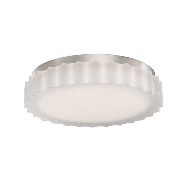 Sprocket 9-inch LED Scalloped Glass 1-light Flush Mount