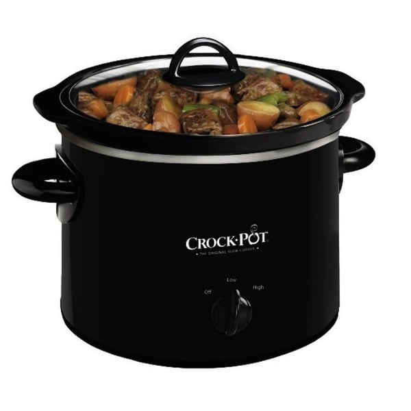 Crock-Pot 2-quart Round, Manual Slow Cooker, Black
