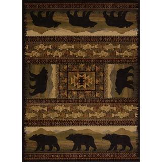 Harmony Bear Walk Lodge Accent Rug (1'10 x 3')