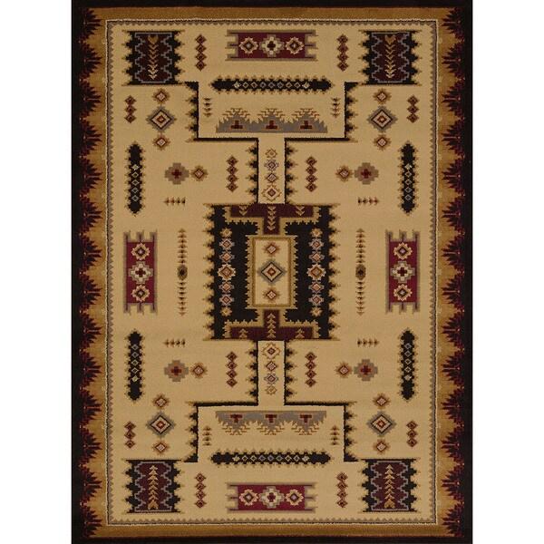 Pine Canopy Bighorn Geometric Runner Rug (1'10 x 7'3) 16207519
