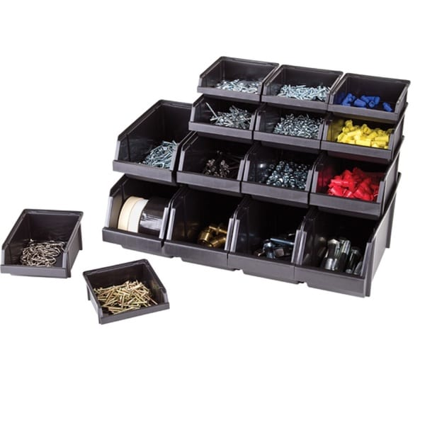 Flambeau Hardware 16 Storage Bin Assortment Black