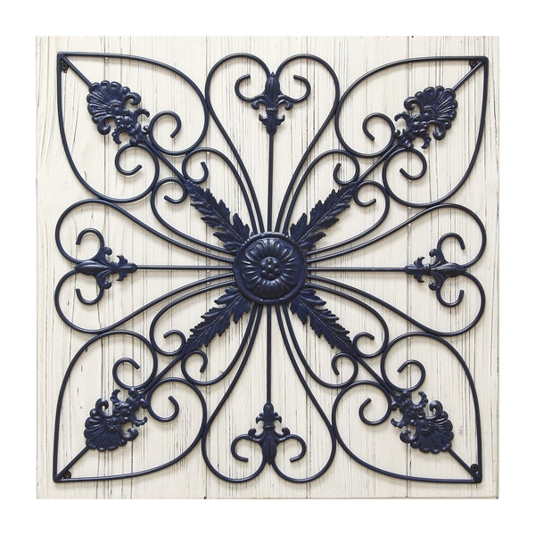 Wood Scroll Wall Decor : Stratton home decor scroll on wood panel wall