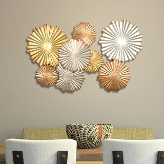 Stratton Home Decor Multi-Metallic Circles Wall Decor