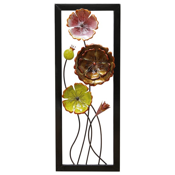 Stratton Home Decor Multi Climbing Flowers Panel II Wall Decor