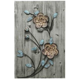 Stratton Home Decor Rustic Floral Panel II Wall Decor