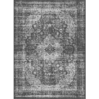 Alise Eternity Charcoal Transitional Area Rug (5'3 x 7'3)