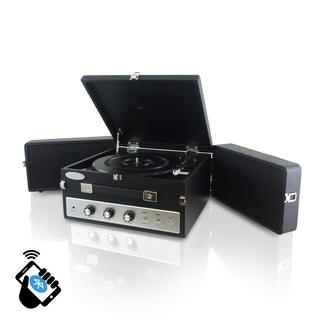 Pyle PLTT82BTBK Retro Vintage Classic Style Bluetooth Turntable Record Player with Vinyl-to-MP3 Recording (Black)