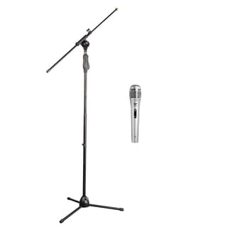 Pack of 2 Pyle KTPMKSMIC Tripod Microphone Stand W/ Extending Boom Professional Dynamic Handheld Microphone