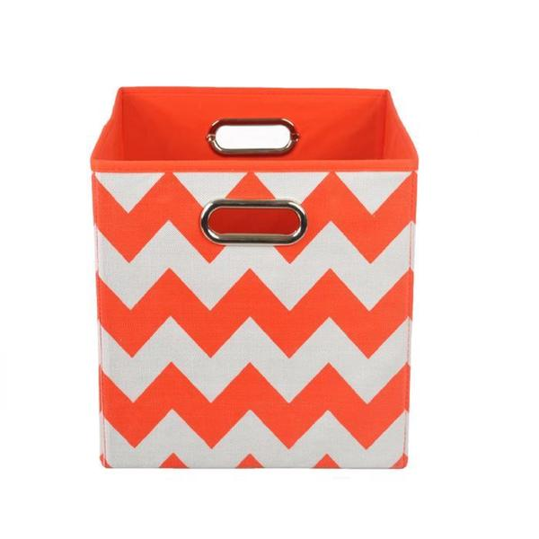 Bold Red Chevron Folding Storage Bin