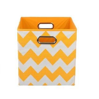 Bold Orange Chevron Folding Storage Bin
