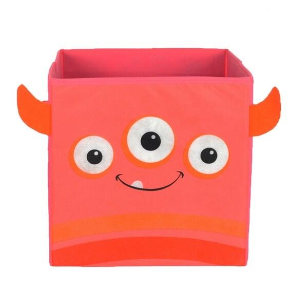 Nuby Pink Monster Folding Storage Bin