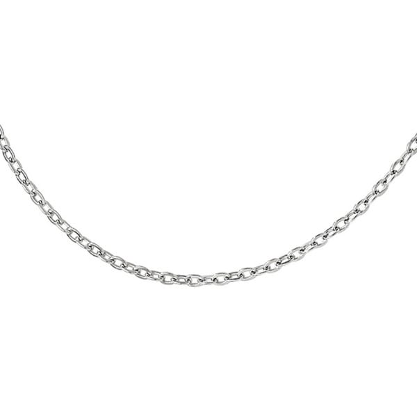 Sterling Silver Cable Chain With 2in Extension