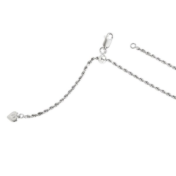 Sterling Silver Adjustable Rope Chain