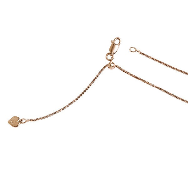 Sterling Silver Rose Goldplated Adjustable Wheat Chain