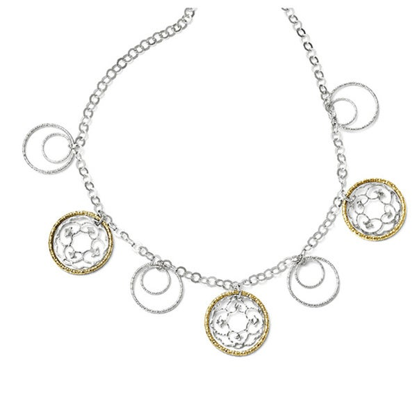 Sterling Silver Gold-tone Flash-plated Necklace