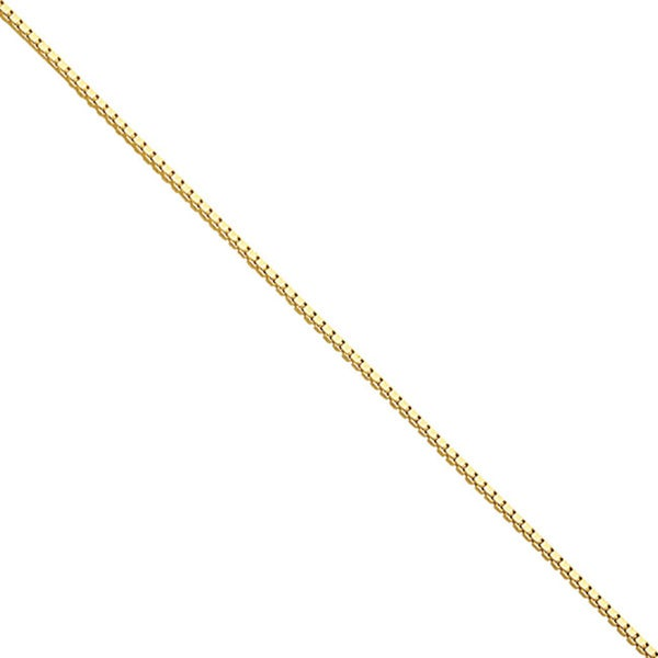Flash Goldplated Sterling Silver .6mm Box Chain