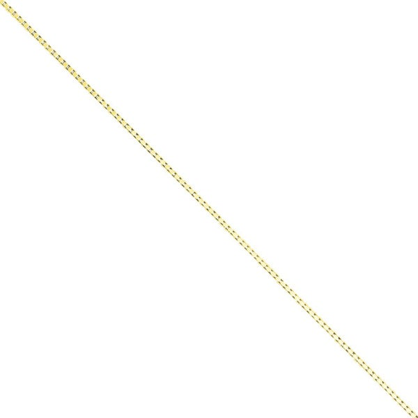 Flash Goldplated Sterling Silver .9mm Box Chain