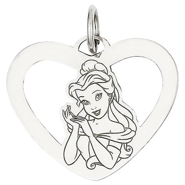 Sterling Silver Disney Belle Heart Charm