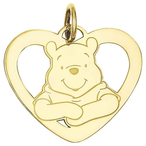 Goldplated Sterling Silver Disney Winnie the Pooh Heart Charm