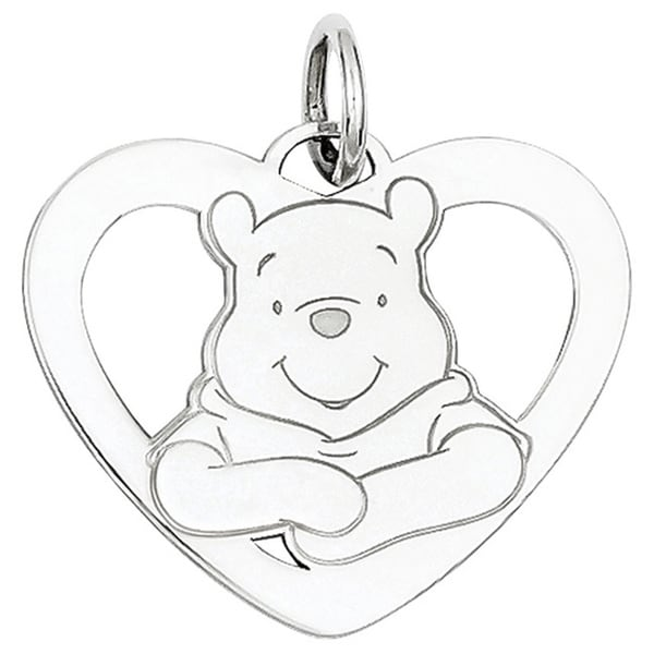 Sterling Silver Disney Winnie the Pooh Heart Charm