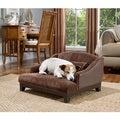 Enchanted Home Pet Madison Brown Velvet Sofa Pet Bed