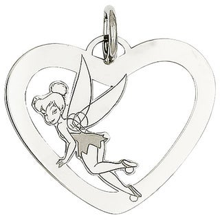 Sterling Silver Disney Tinkerbell Heart Charm