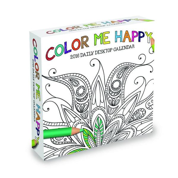2016 Color Me Happy Daily Desktop Calendar