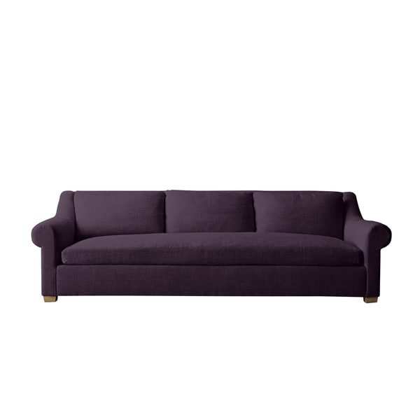 Aubergine Linen Abingdon Sofa