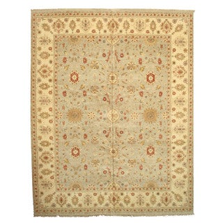 EORC Hand Knotted Wool Grey Agra Rug (12'2 x 15'2)