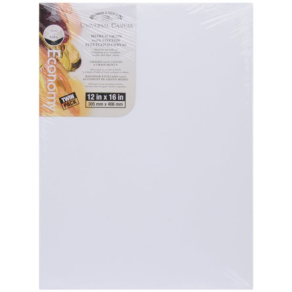 Universal Stretched Canvas Twin Pack 2/Pkg12inX16in