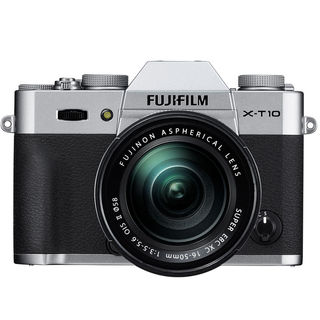 Fujifilm X-T10 Mirrorless Digital Camera with 16-50mm Lens (Silver)