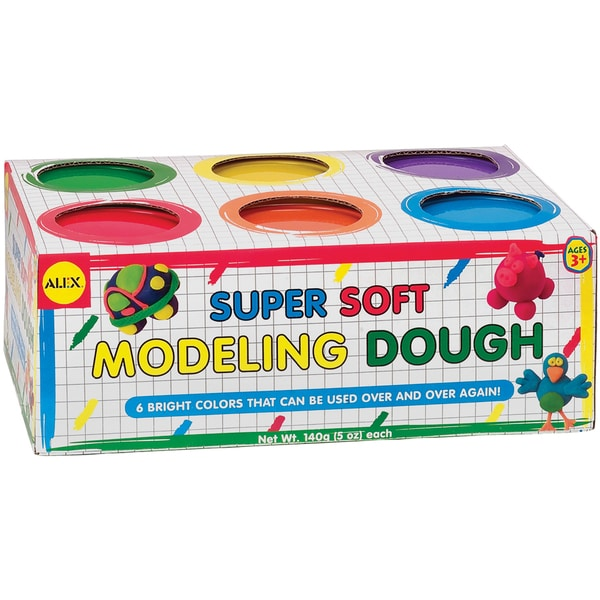 Super Soft Modeling Dough 5oz 6/PkgAssorted Colors