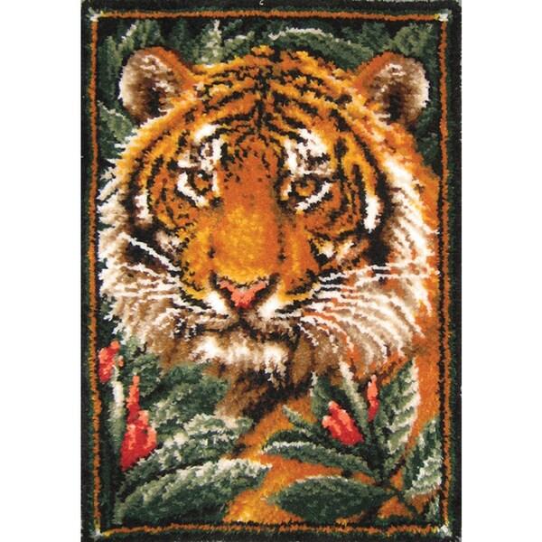 Latch Hook Kit 27inX40inJungle Tiger