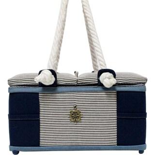 Rectangular Sewing Basket 6.75inX11.25inX6.75in Nautical