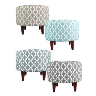MJL Furniture Sophia Round Fulton Upholstered Ottoman