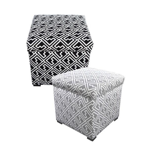 MJL Furniture Tami Shakes Square Storage Ottoman