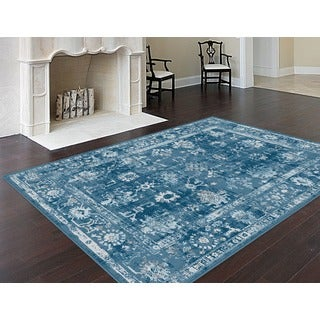 Alise Eternity Blue Transitional Area Rug (7'10 x 10'3)