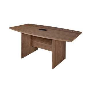 Harmony 71-inch Boat Shape Conference Table Featuring Lockdowel Assembly