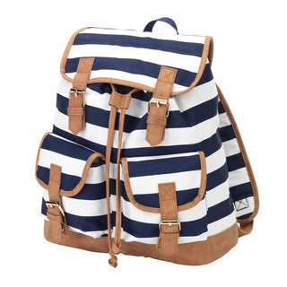 Striped Campus Backpack