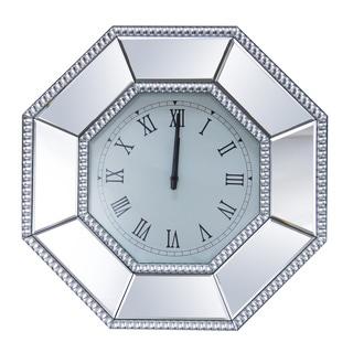 Abbyson Living Venice Studded Octagon Wall Mirror Clock