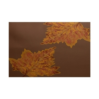 Leaves Dancing Flower Print Rug - 2' x 3'