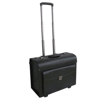 Amerileather 18-inch Leatherette Carry-on Rolling Pilot/ Catalog Case
